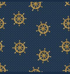 Seamless pattern wheels and polka dot vector
