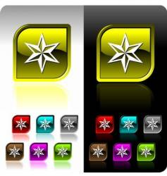 shiny color button set vector image vector image