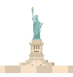 Statue of Liberty in America National symbol of vector image