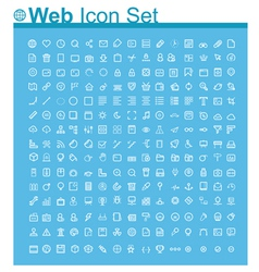 Web page icon set vector image vector image