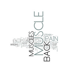 z back muscle pain text word cloud concept vector image vector image