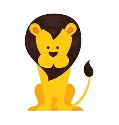 lion animal cartoon vector image