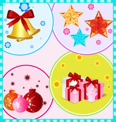 Christmas decoration items vector