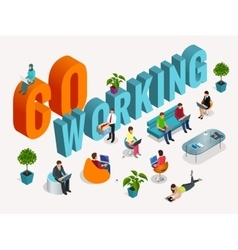 Concept of the coworking center business meeting vector