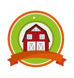 Stable farm building icon vector