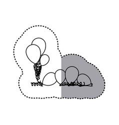 figure many balloon icon vector image