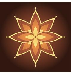 Mandala decorative flower vector