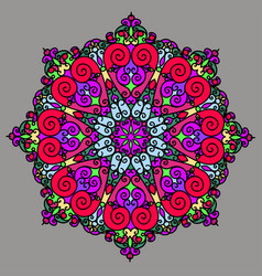 Round ornament pattern geometric circle element vector