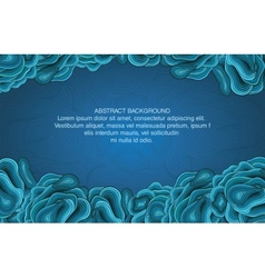 Abstract blue curve design template vector
