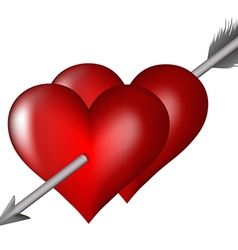 Heart arrow vector