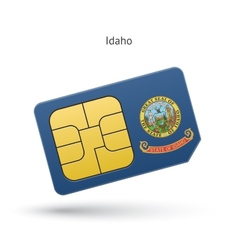 State of idaho phone sim card with flag vector