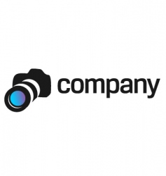 Professional camera logo for company vector