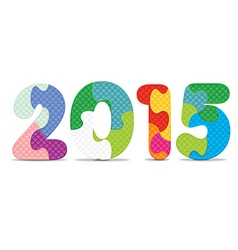 2015 made from alphabet puzzle vector image