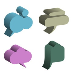 3D Speech Bubbles vector image vector image