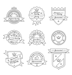 Set of monochrome label logo and badge vector