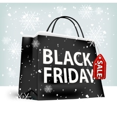 Black friday shopping bag vector