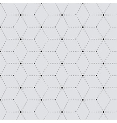 Rhombus a dash monochrome seamless pattern vector