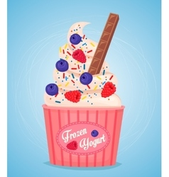 Frozen yogurt cup vector