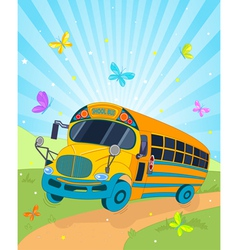 School Bus Cartoon vector image