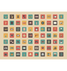 345all retro gadget icon vector