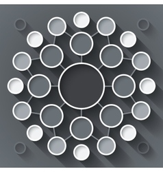 Abstract infographics symmetrical white and gray vector