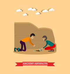 Ancient artifacts concept in vector
