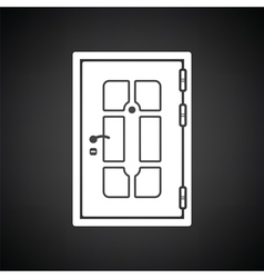 Apartments door icon vector image vector image