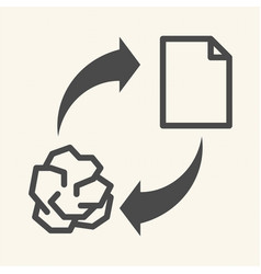 conceptual recycling paper recycle sign icon vector image vector image