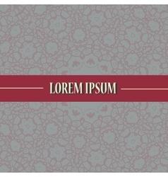 Cover print with ornamental mandala design vector