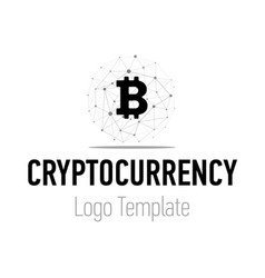 Crypto currency or bitcoin logo design modern vector