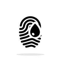 Damage fingerprint icon on white background vector