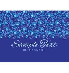 Dark blue turkish floral horizontal border vector