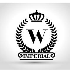 Emblem royal quality design vector