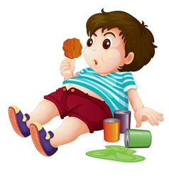 Fat kid vector image vector image