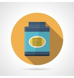 Flat color icon for gainer supplements vector
