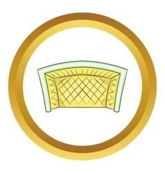Football goal icon vector