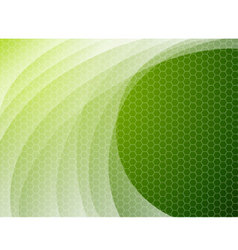 Green abstract wave background vector