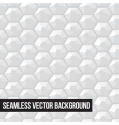 Grey honeycomb seamless graphic pattern vector image vector image
