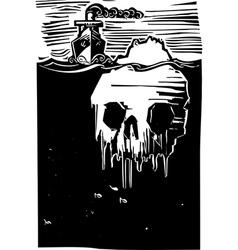 Iceberg Skull vector image