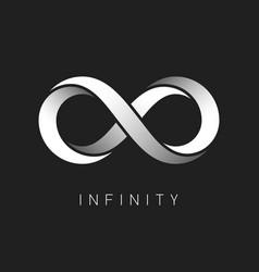 Infinity symbol limitless sign logo design vector