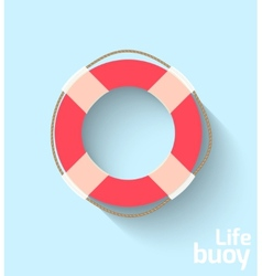 Life buoy in flat style vector image