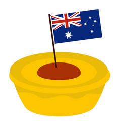 Little flag icon isolated vector
