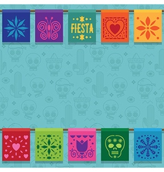 mexican bunting ornament vector image vector image