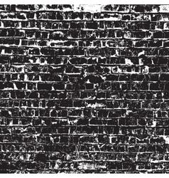 Old black bricks vector