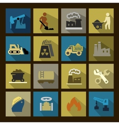 power generation icons set vector image vector image