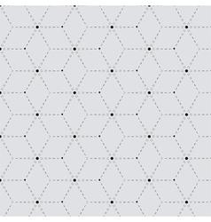 Rhombus a dash monochrome seamless pattern vector image vector image
