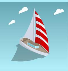 sailing yacht isometric style vector image