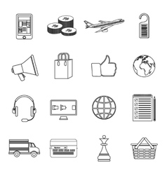 Set of simple line icons vector image vector image