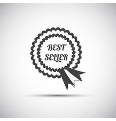 Simple best seller ribbon icon modern vector