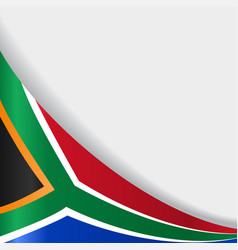 South african flag background vector